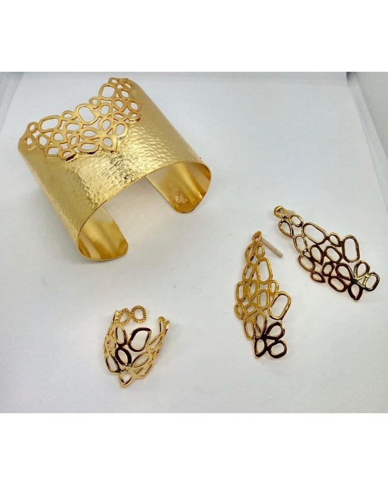 brass cuff, hand made