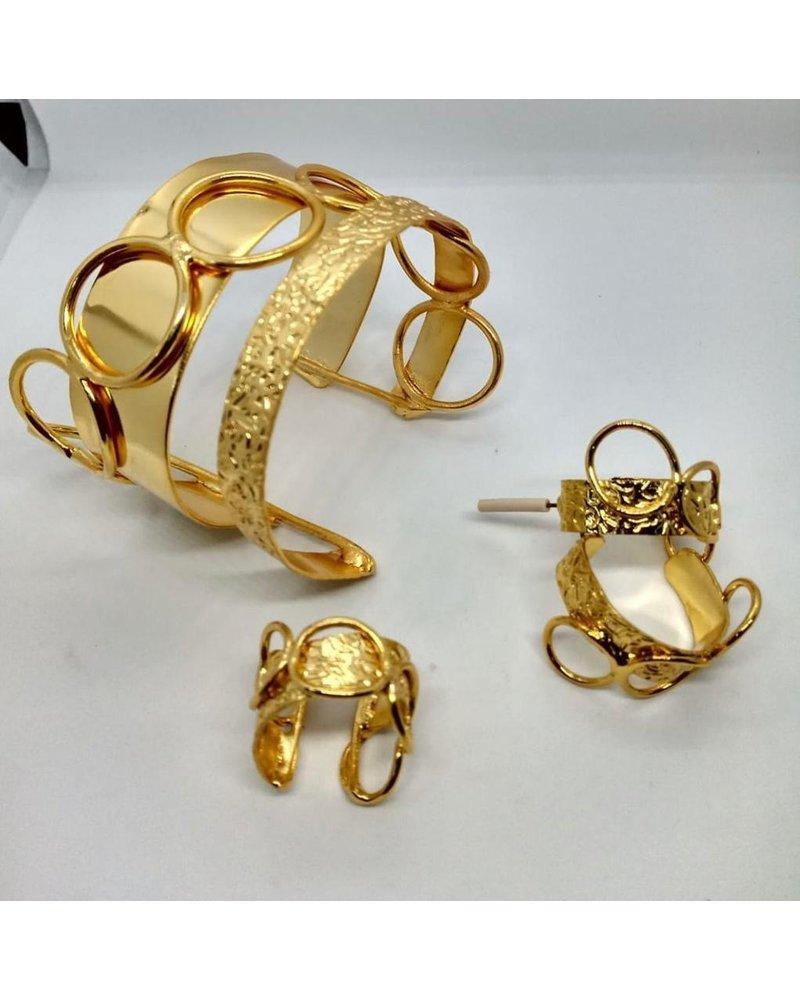 cuff brass gold hand made