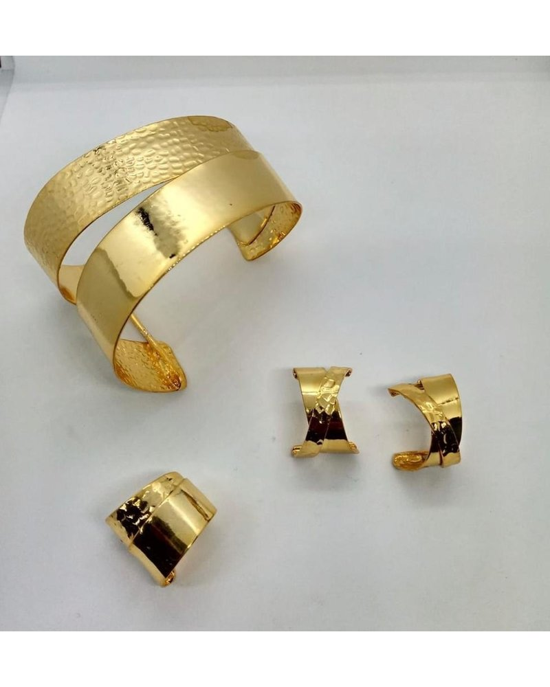 cuff brass gold hand made