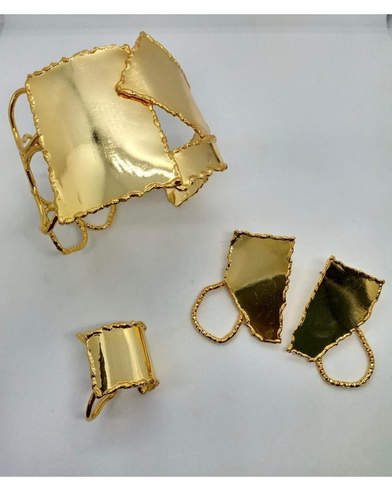 cuff brass jewelry, hand made