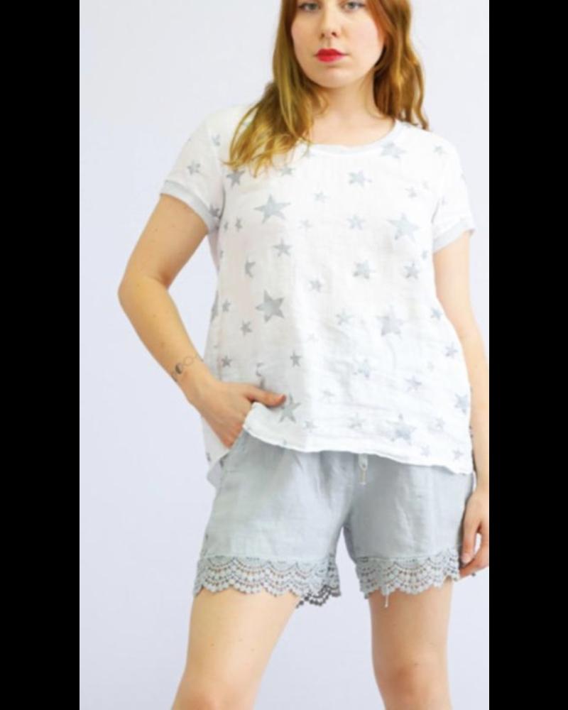 Grey Linen Lace pant