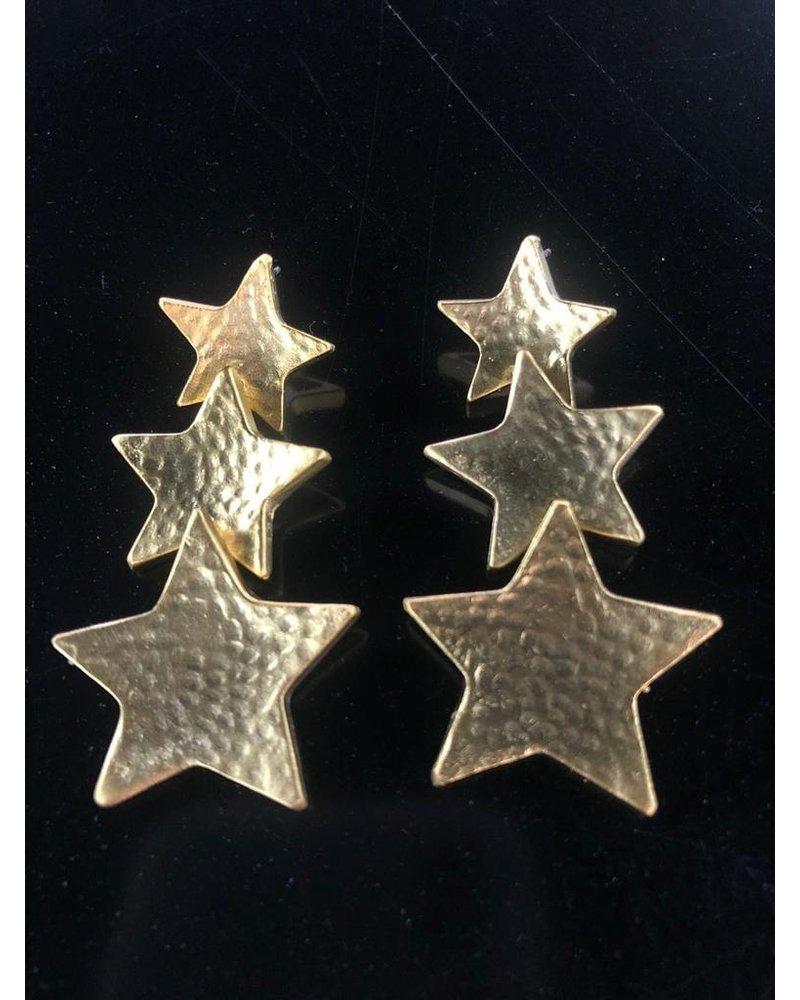 3 Star Earrings