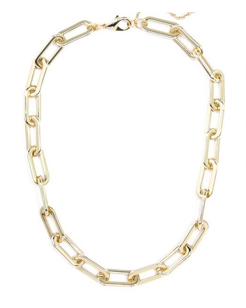 Clip Necklace 18K Gold Or Silver Plated