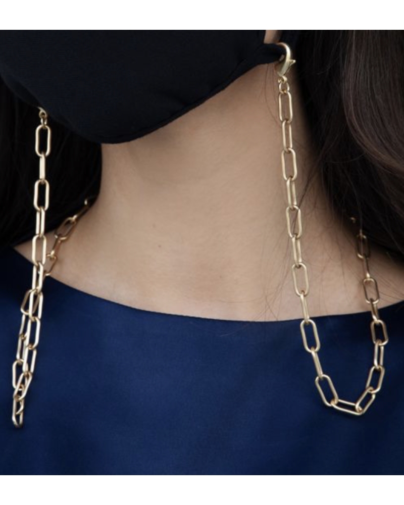 18K Gold Plated Necklace Mask