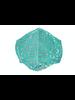 Leopard Mesh Mask (Turq Silver)