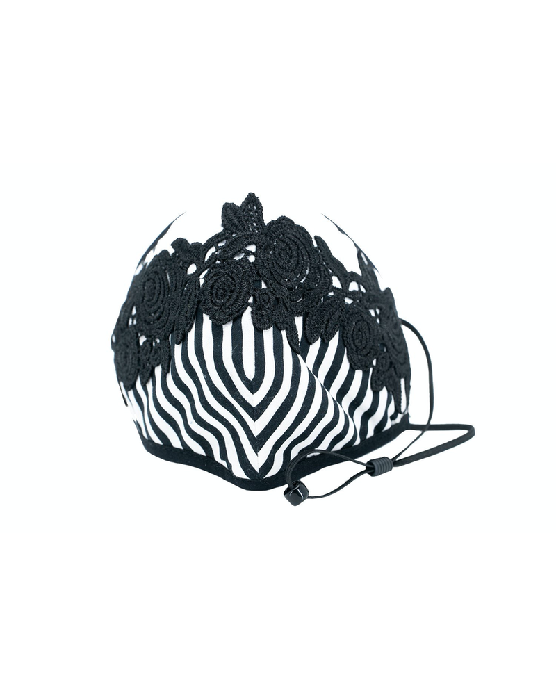 A Lace Touch Mask (Black White)