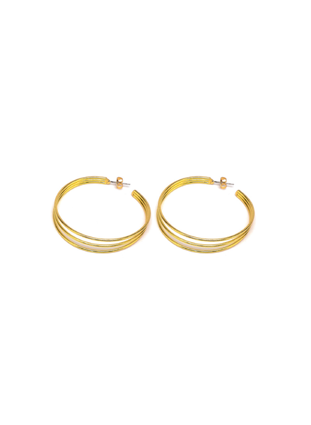 HOOP EARRINGS 3 LINES