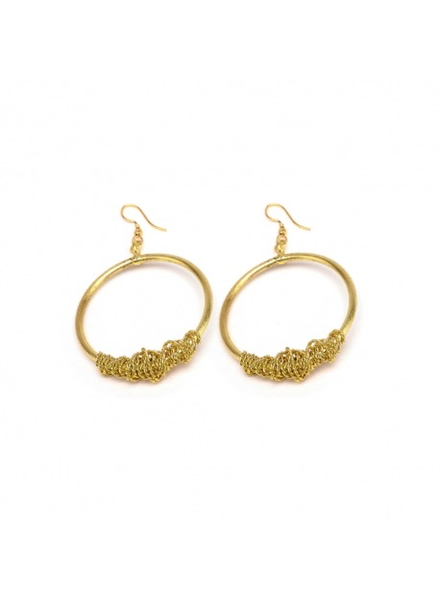 HOOP EARRINGS ROLLED UP WIRE