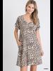 Leopard Print Boxy Dress With Pockets