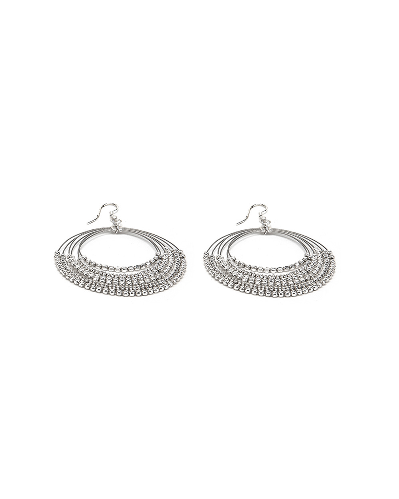 EARRINGS MULTI CIRCLES MICRO NUGGETS