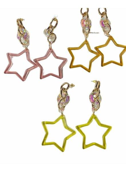 Acrilic Star Earrings