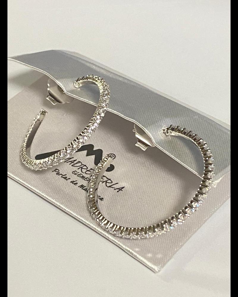 "Earrings Silver Or Gold 11 2"""
