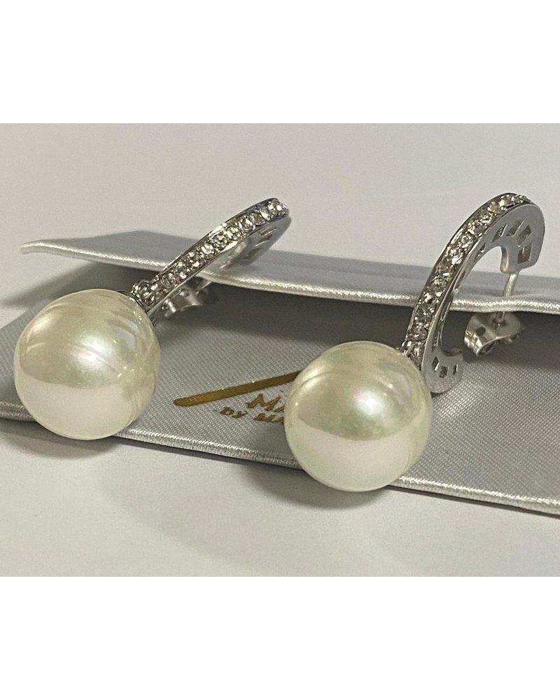 Gold Or Rodio Pearl Earrings