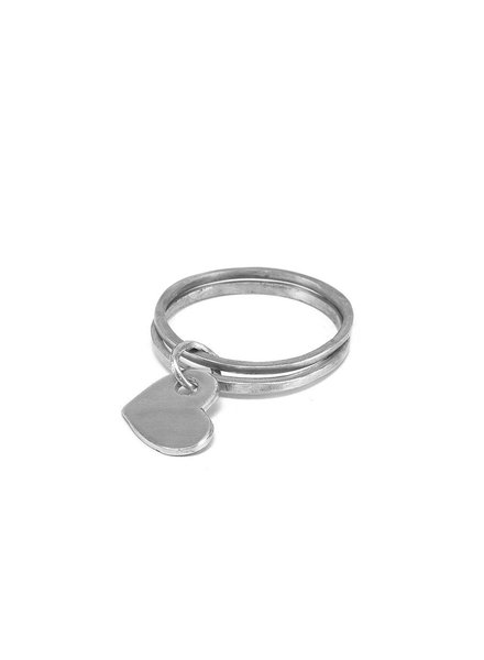 BANGLE DOUBLE BANGLE HEART CHARM
