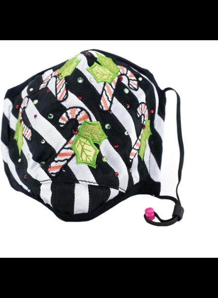 Candycane Dance Mask (Black White)