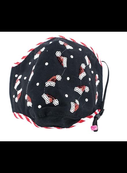Christmas Hats Mask (Black)