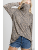 Leopard top/self fabric mask