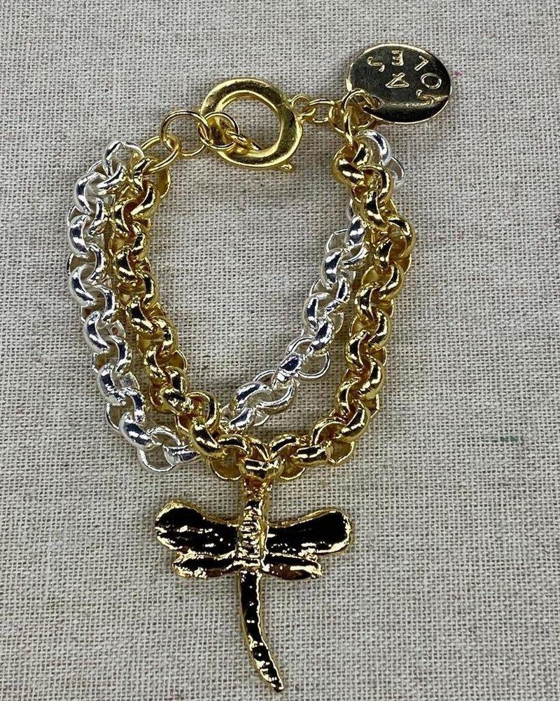 Dragonfly Double chain Bracelet