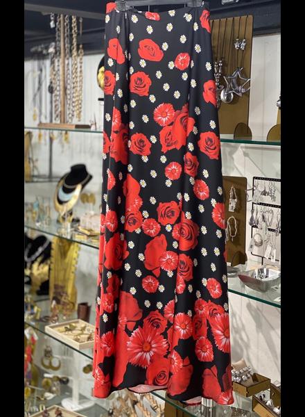 flower maxi skirt