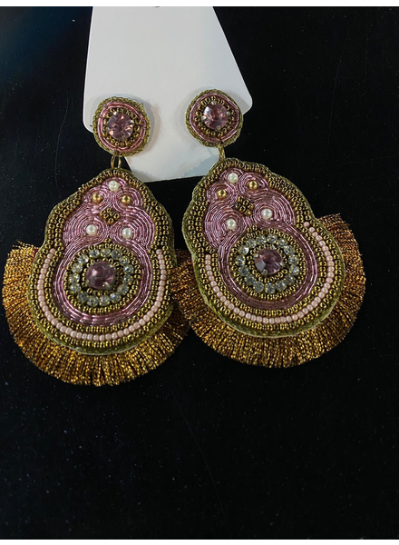 earrings bead hand made