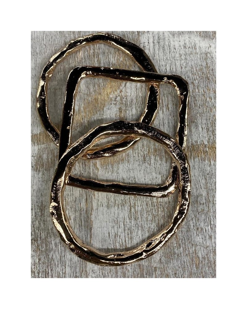 3 bangles rose Gold Plated by 4 soles
