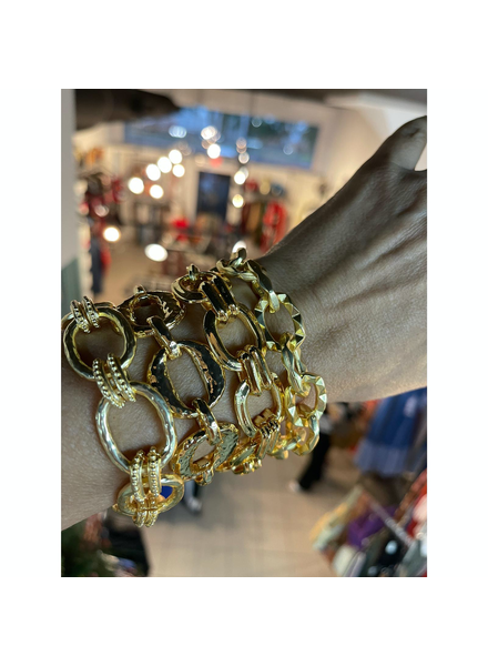 4 Bracelet Gold Plated
