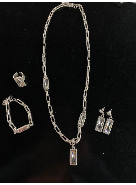 necklace, ring and earrings