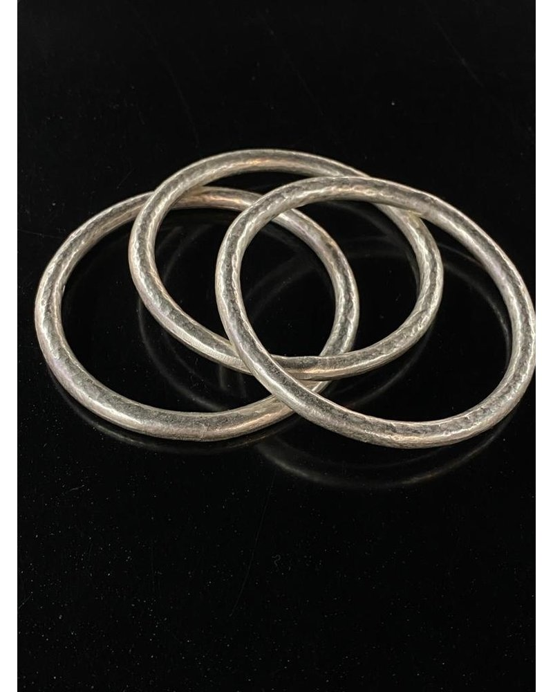 3 silver plated Bangles