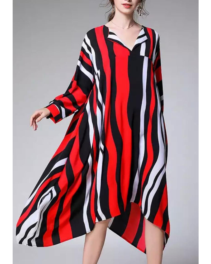 dress one size black, red and white