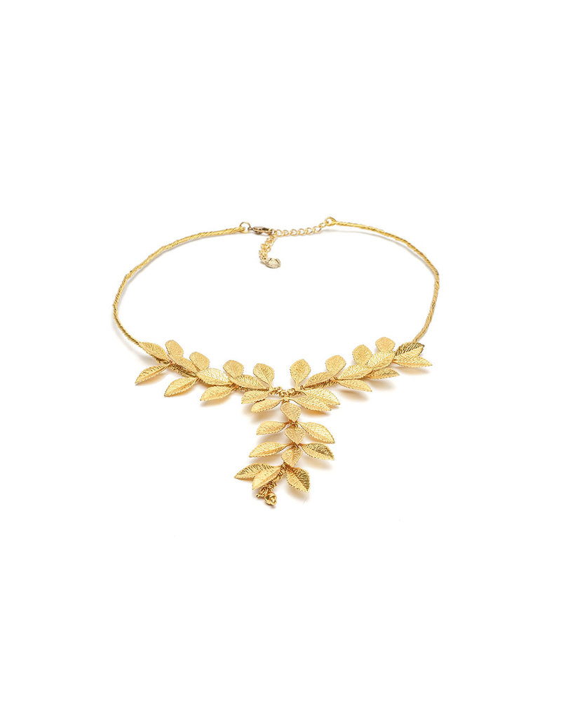 MICRO LEAVES SHORT NECKLACE