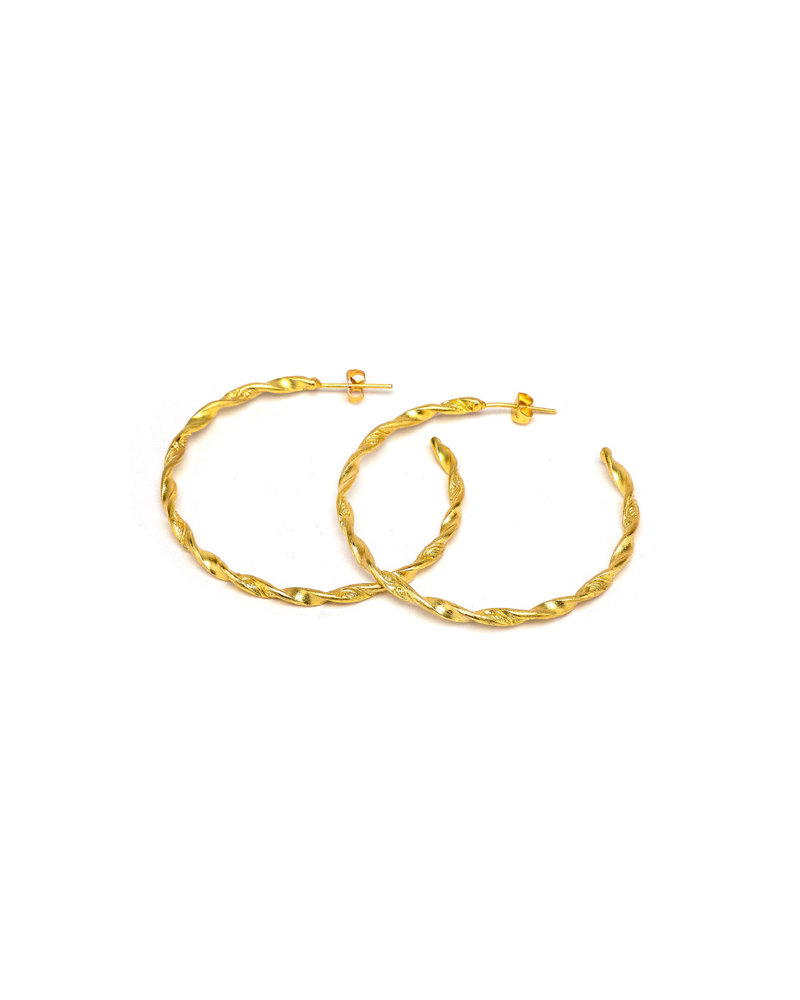 HOOP EARRINGS WAVY