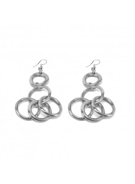 EARRINGS 5 TIED UP CIRCLES