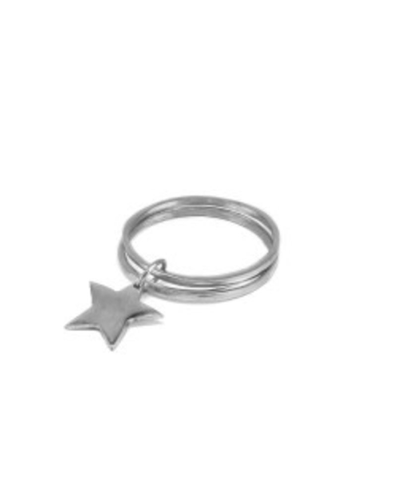 BANGLE DOUBLE STAR CHARM