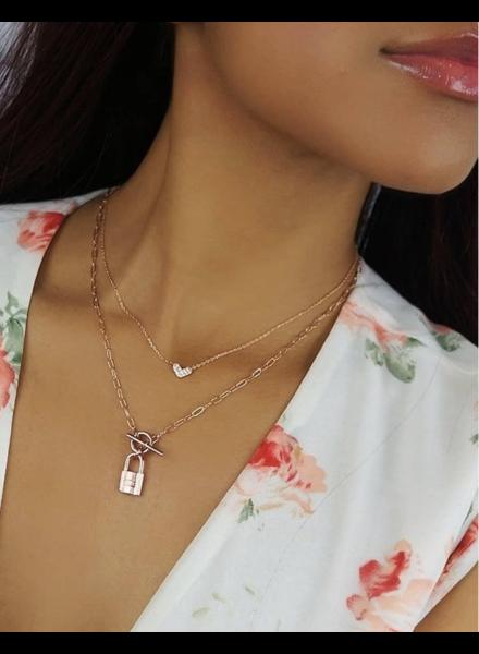 Rose Gold Love set 2 Necklace
