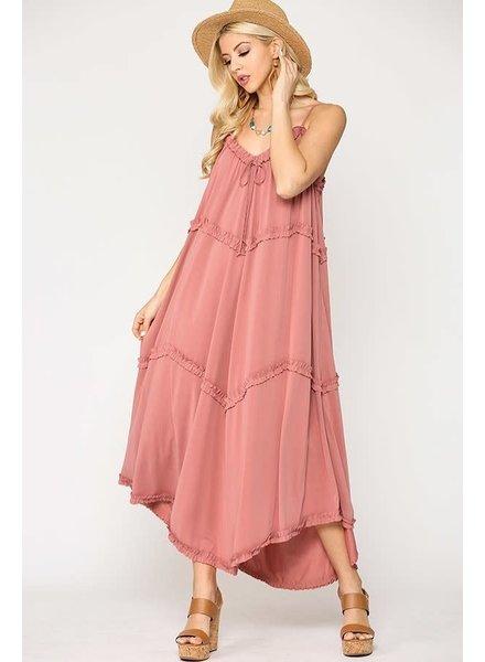 Solid Knit Riffle dress