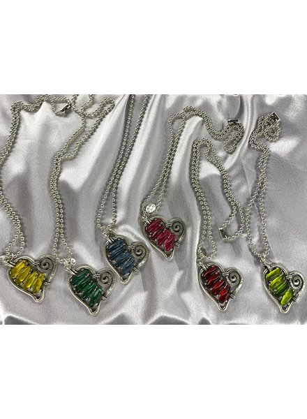 big heart necklace zmac/silver