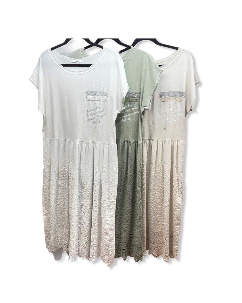 Cotton/eye let Dress one size