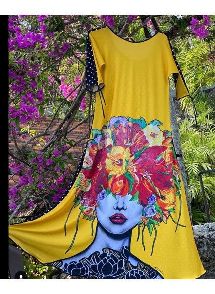 Maxi Dress Yellow Omdaya
