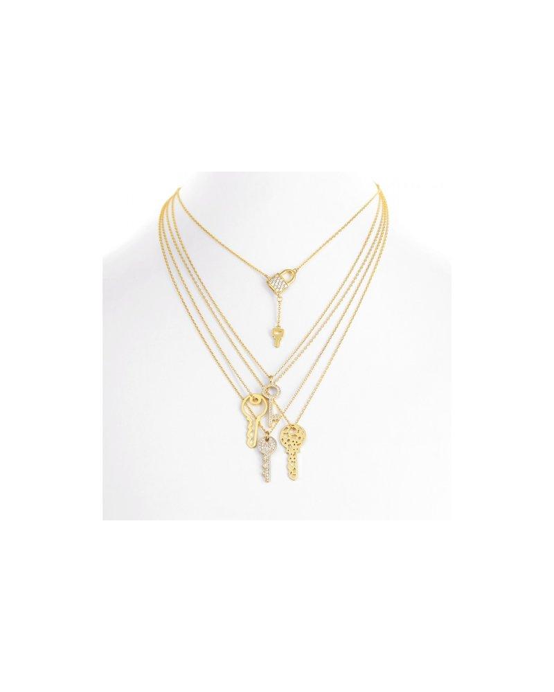 Key Cutout Necklace