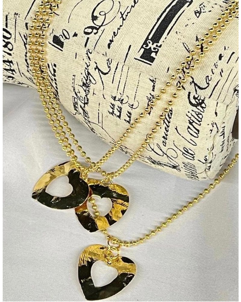 Gold Plated necklaces heart