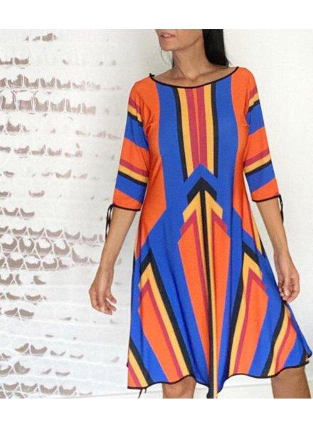 Omtara Print Dress by Omdaya