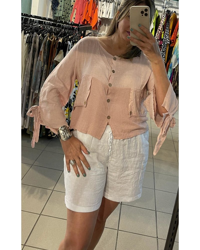 linen bluse one size