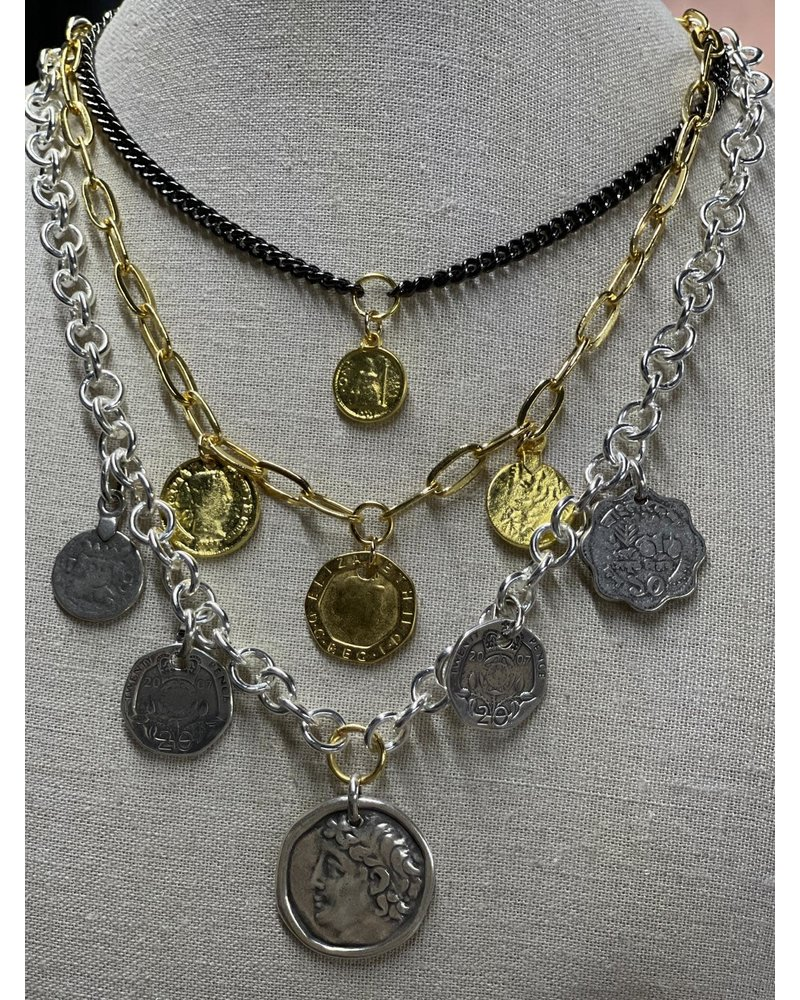 coins necklace by 4 soles