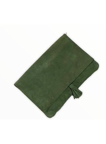 Real Leather Clutch