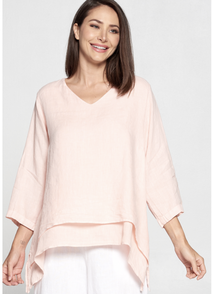 V-NECK DOUBLE LAYER TOP PLUS