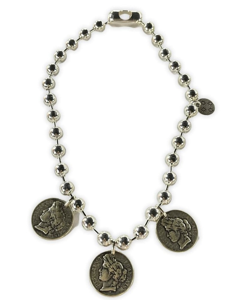 3 Coins   Necklace by 4 soles