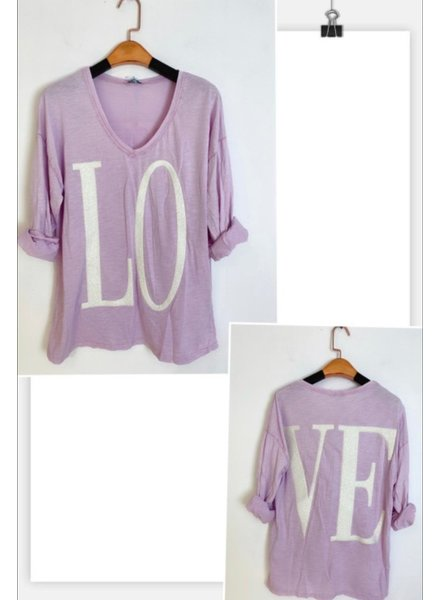 love t shirt one size