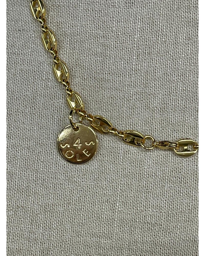 14k gold plated mariner chain link necklace.