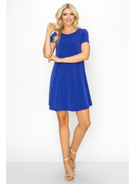 Royal Blue Swingy Tee Dress