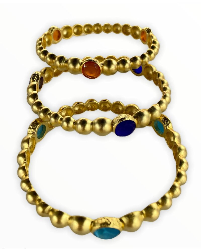 bangles with round crystals